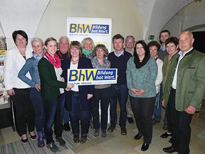 Gruppenbild der TeilnehmerInnen an der Sitzung des BhW-Bezirk Scheibbs
