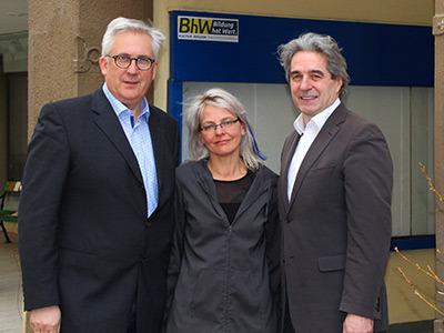 BEN-Projektleiter Alfred Luger, BhW-Mitarbeiterin Elke Indinger und Behindertenanwalt Dr. Erwin Buchinger